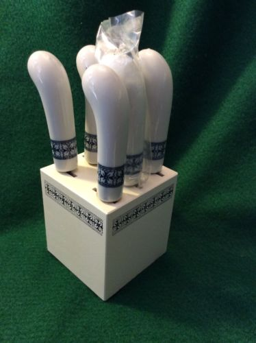 Vintage Canape Block & Butter Knifes Set NIP