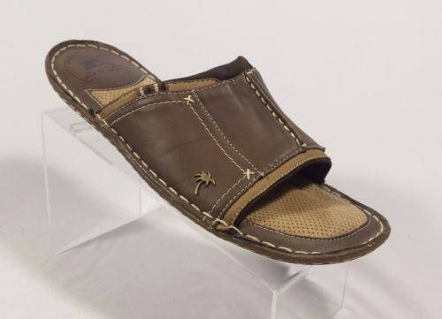 Men's Brown Margaritaville Glides Slides Sandals Flip Flops Size 10