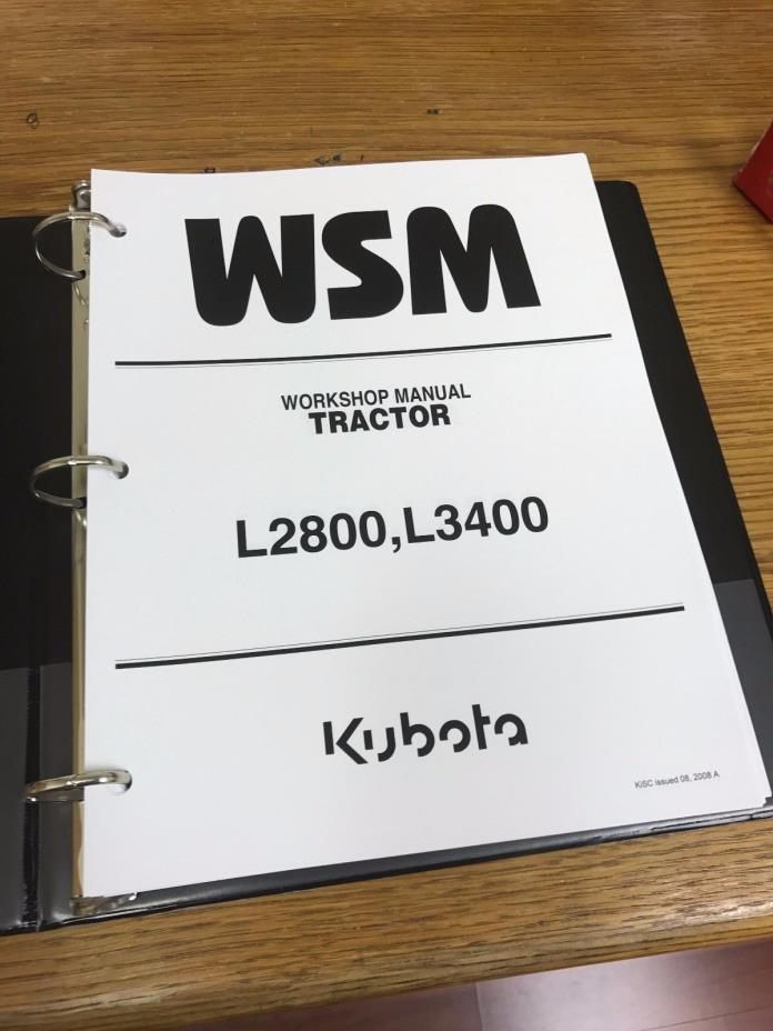 Kubota L2800 L3400 L3700SU Tractor Workshop Service Repair Manual BINDER