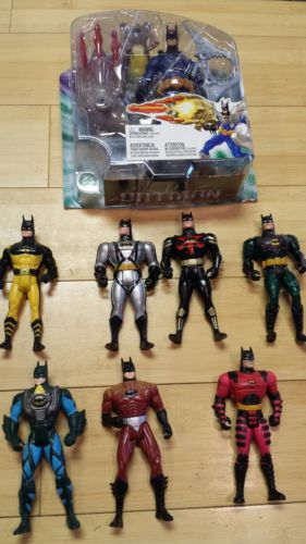 Batman action figures toy lot Kenner 1992-2003 Vintage BATMAN
