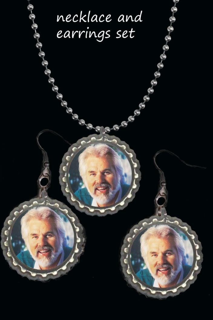 Kenny Rogers earring Earrings and necklace set great gift country music