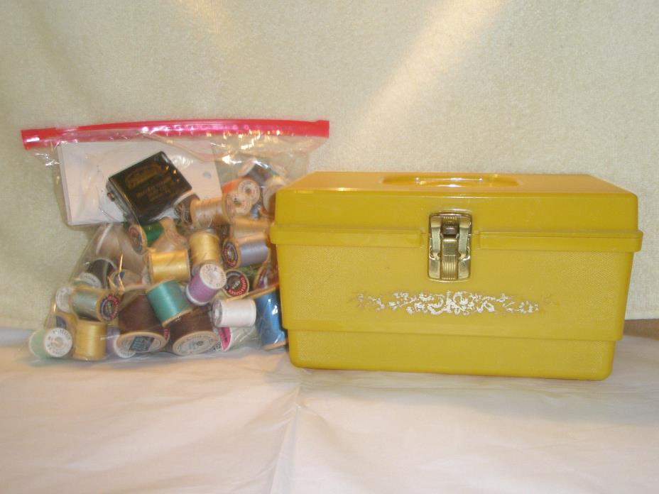 Vintage Lot 71 Thread and Sewing Box Hard Plastic