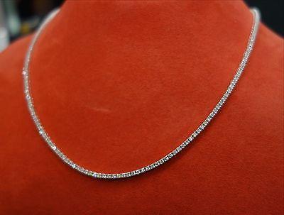 18k Diamond Tennis Necklace 3.39 Ct G-H/SI1 17