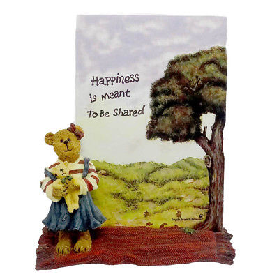 Boyds Bears Resin MEGAN MCBRUIN & FRIEND FRAME Acrylic Bearstone 1E 27324