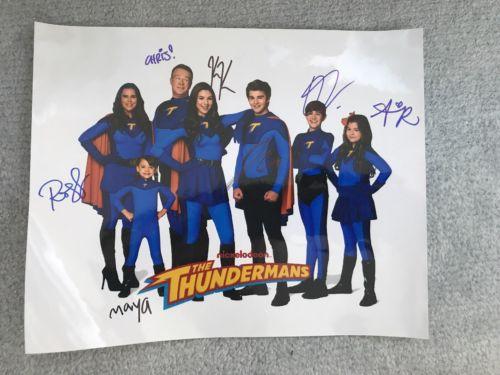 The Thundermans Nickelodeon TV Show FULL CAST Signed Photo - RARE