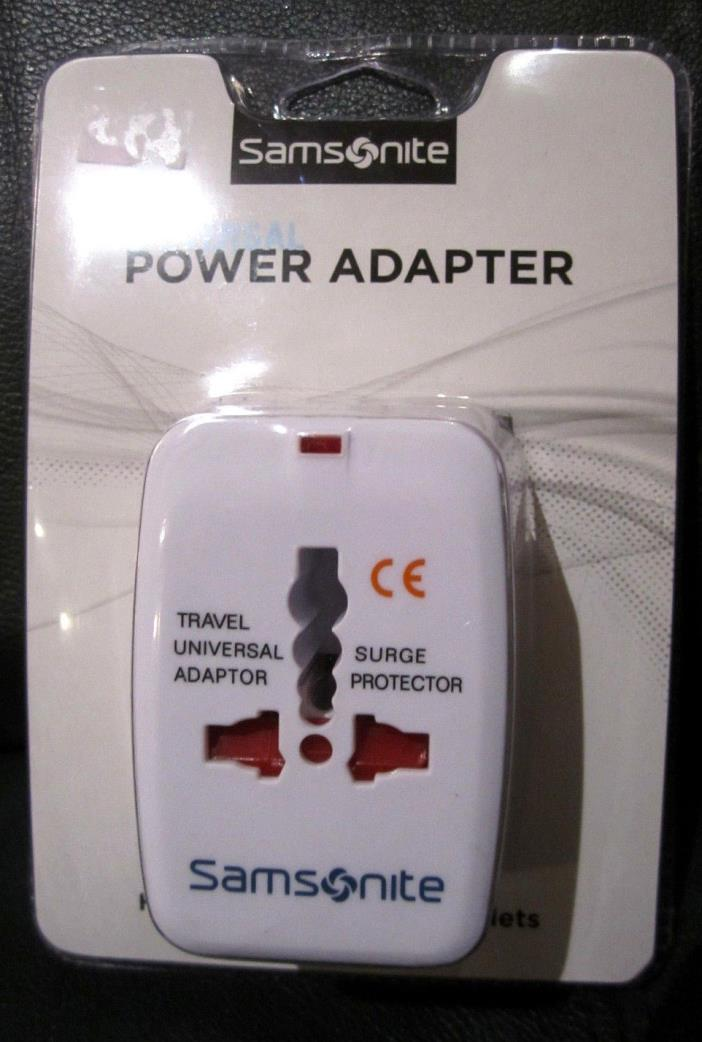 NEW Samsonite Universal Travel Power Adapter FREE SHIP - Works in 150 Countries