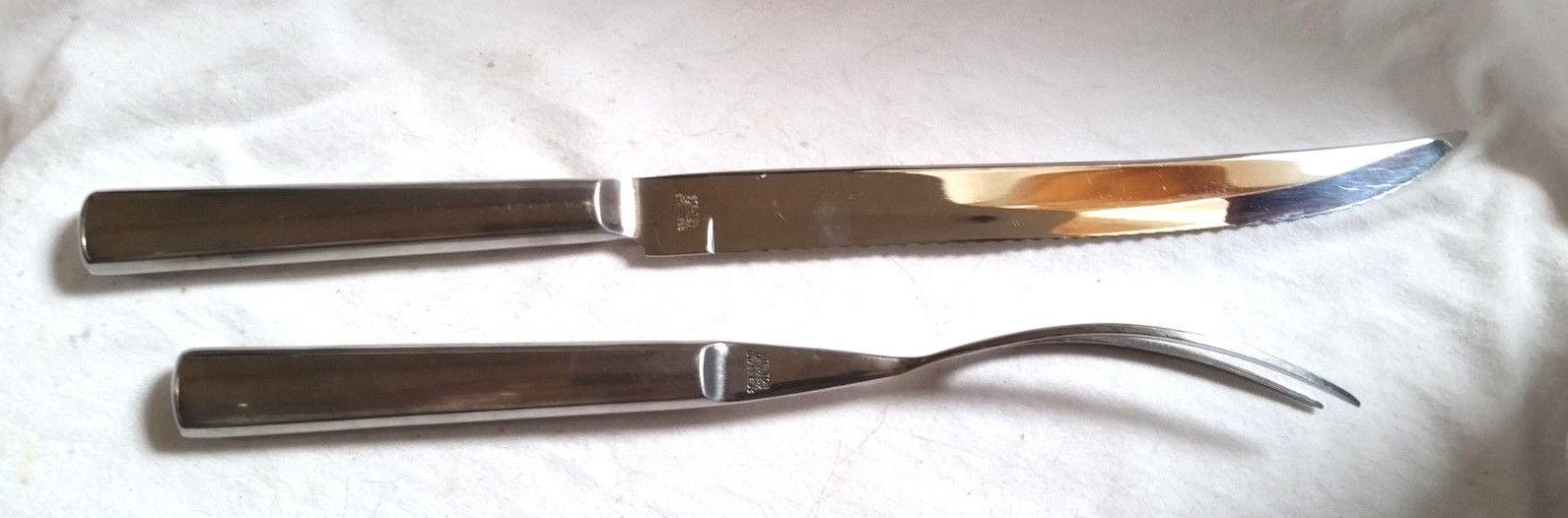 2 pc STELTON Stainless Steel Danish Carving Set, 14