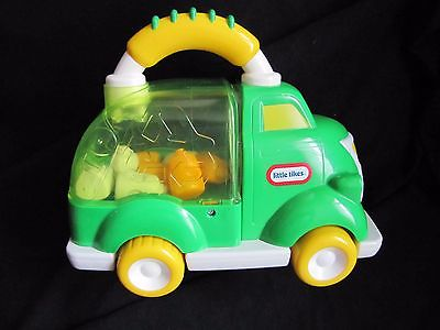 Little Tikes Handle Hauler Haulers Popping RECYCLING TRUCK Trash Garbage EXC