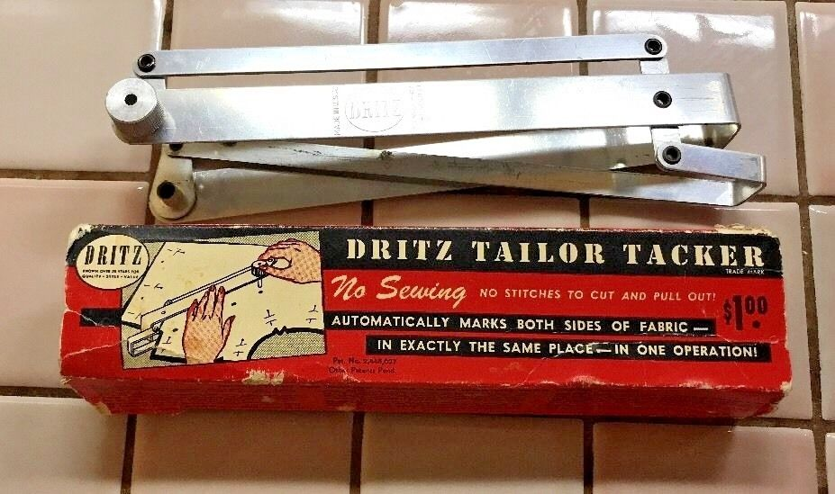 © 1948 - DRITZ TAILOR TACKER - No Sewing - Marks Both Sides of Fabric