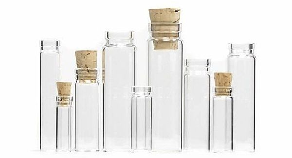 Wishing Bottles Glass Vials Fairy Dust bottles with Cork Clear Empty