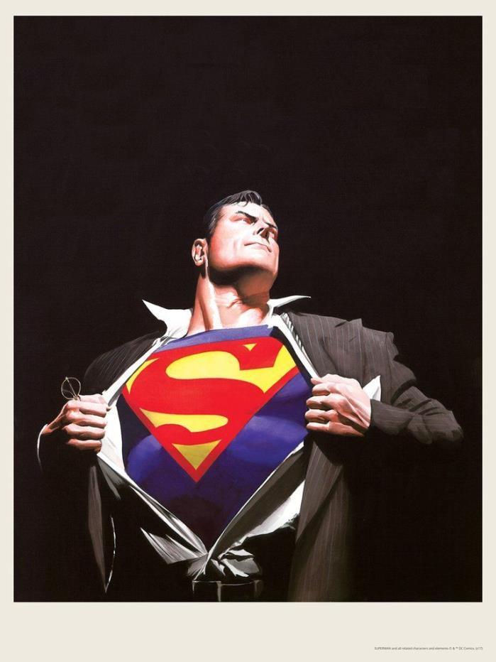 Alex Ross - Superman Forever - DC, Nt Mondo Batman Justice league Art Print