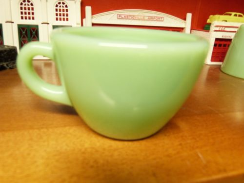 Vintage heavy Fire King Jadeite Restaurant Ware Cup C handle