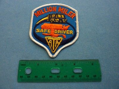 ONE MILLION MILE SAFE DRIVING AWARD ATA AMERICAN TRUCKING ASSOCIATION PATCH