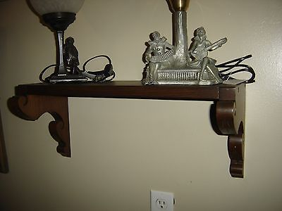 Antique Walnut Eastlake Clock Shelf.    7735