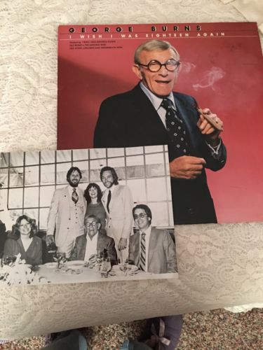 GEORGE BURNS - I WISH I WAS EIGHTEEN AGAIN AUTOGRAPHED & PHOTO