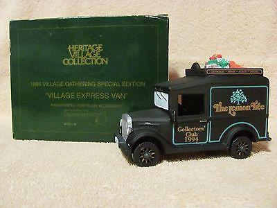 Village Express Van The Lemon Tree Black 07218 Dept 56 Special Designs D56 MIB