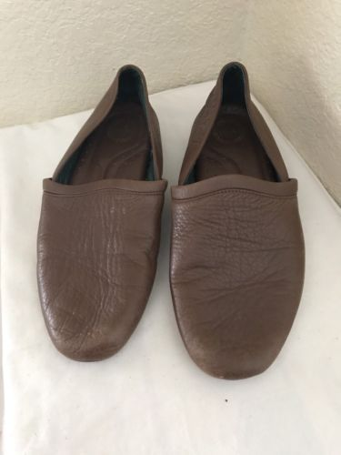 L.B. EVANS BROWN LEATHER SLIPPERS MEN SZ 10.5M