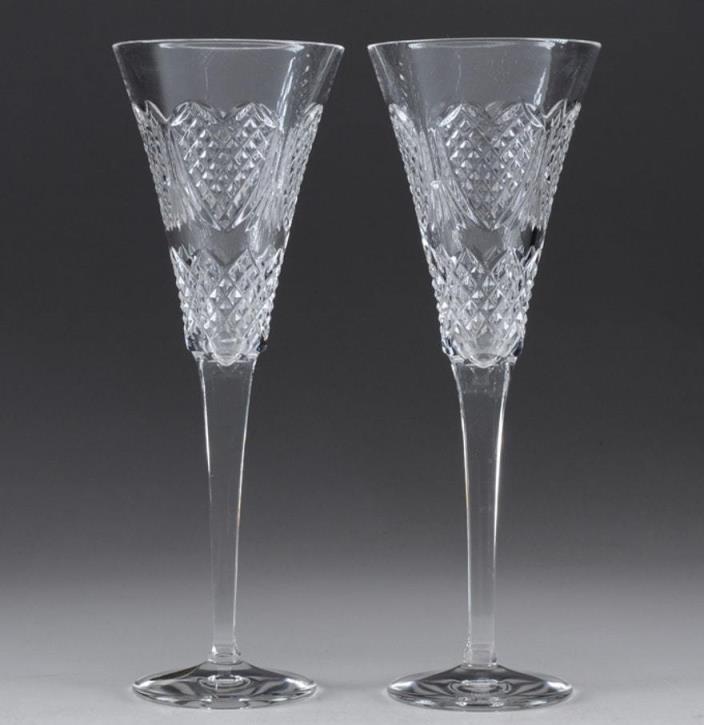 Waterford Crystal Wedding Heirloom Flute Pair*