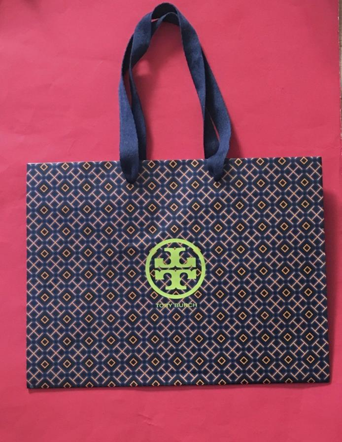 NEW!! Authentic Tory Burch Logo Empty Shopping Paper Gift Bag 12