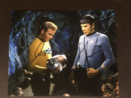 Leonard Nimoy William Shatner signed Star Trek 8x10 photo UACC REG DEALLER SALE