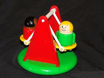 Vintage Playground Teeter Totter & People Yellow with Red - Shapes