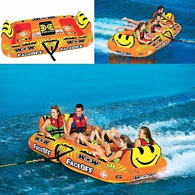 Wow Watersports 15-1050 FaceOff  Water Tube 4 Person Inflatable Towable
