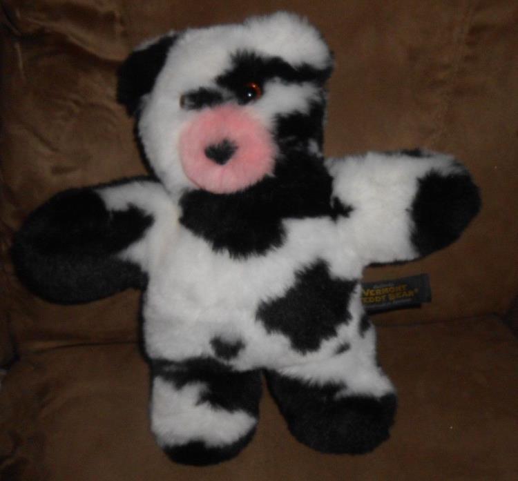 Vermont Teddy Bear - Take Alongs Cow Flat Stuffed Plush Animal - Very Nice!