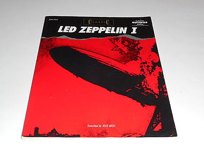 Led Zeppelin I Songbook Sheet Music, Authentic Guitar-Tab Edition,Complete Solos