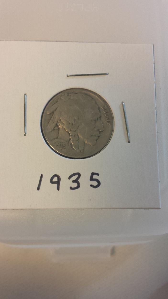 1935 5C INDIAN HEAD BUFFALO NICKEL - Estate Find