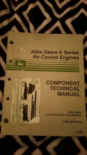 John Deere K Series Air-Cooled Engine Component Technical Manual CTM5