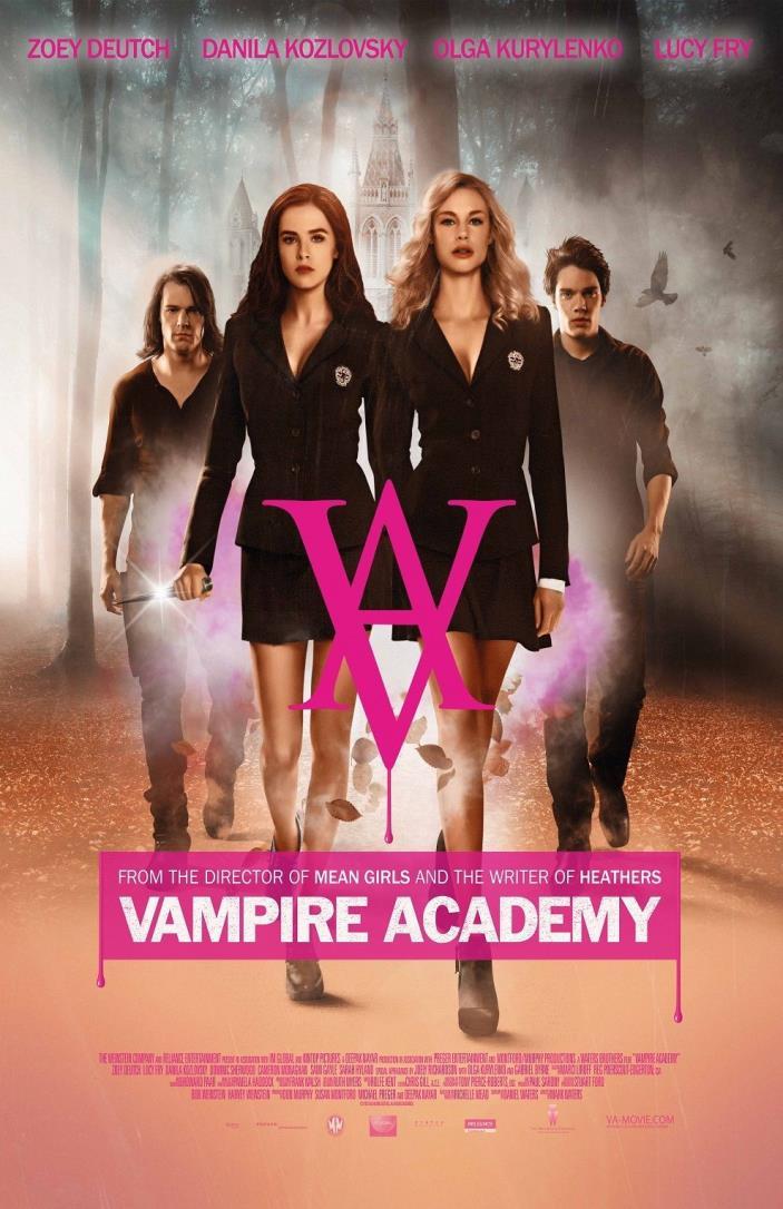 Vampire Academy movie poster (b) - Zoey Deutch poster (2014)