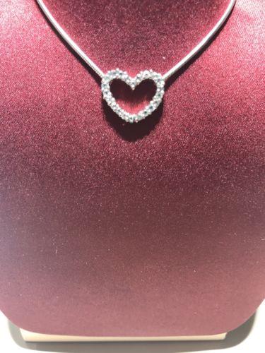 BARRY KRONEN open heart diamond pendant