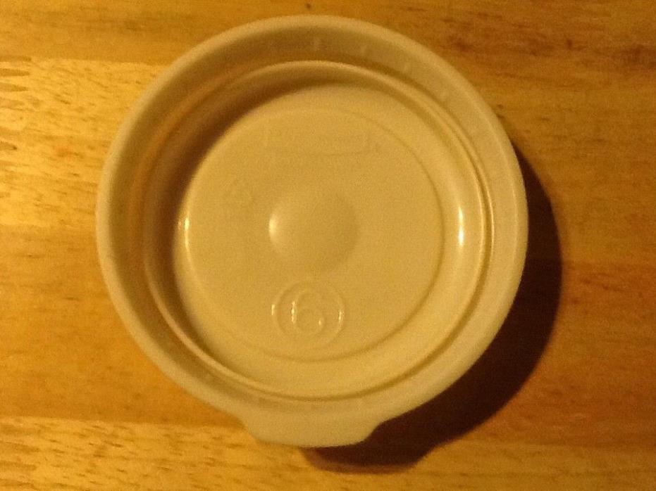 Vintage Rubbermaid Servin Saver #6 lid only fits 1 cup container almond storage