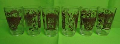 Set of 6 Vintage Mid-Century Juice Glasses
