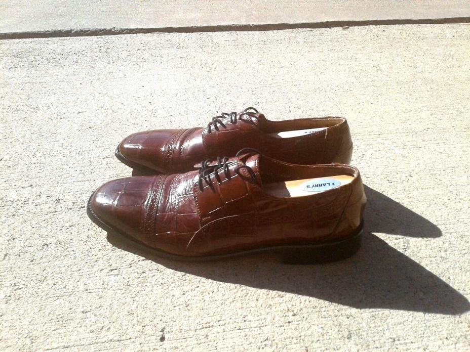 STACY ADAMS Men Brown Lace Up Leather Oxford Dress Shoes Size 10.5M