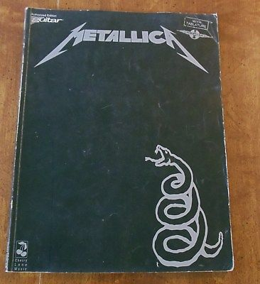 Metallica Enter Sandman Guitar Book Tablature Lyrics Cherry Lane Kirk Hammett