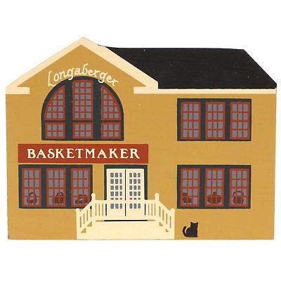 Cats Meow LONGABERGER BASKETMAKER Wood Exclusive Retired Basket Rare CSTM000001