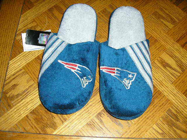 New England Patriots Mens Slip On Slippers
