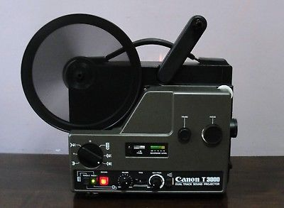 Canon T3000 2-Track SOUND Projecto Super 8 Movie PROJECTOR In BOX  ~SERVICED~