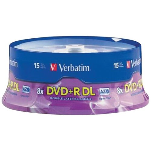 Ver95484 - Dvd+r Dl 8.5gb 8x Branded 15pk
