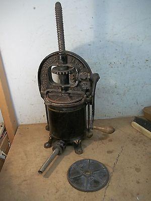 Complete Old Hand Cranked Enterprise 4 Qt. Lard Press Sausage Stuffer