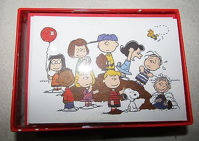 PEANUTS GANG GRAPHIQUE de FRANCE 16 BLANK NOTE CARDS SET