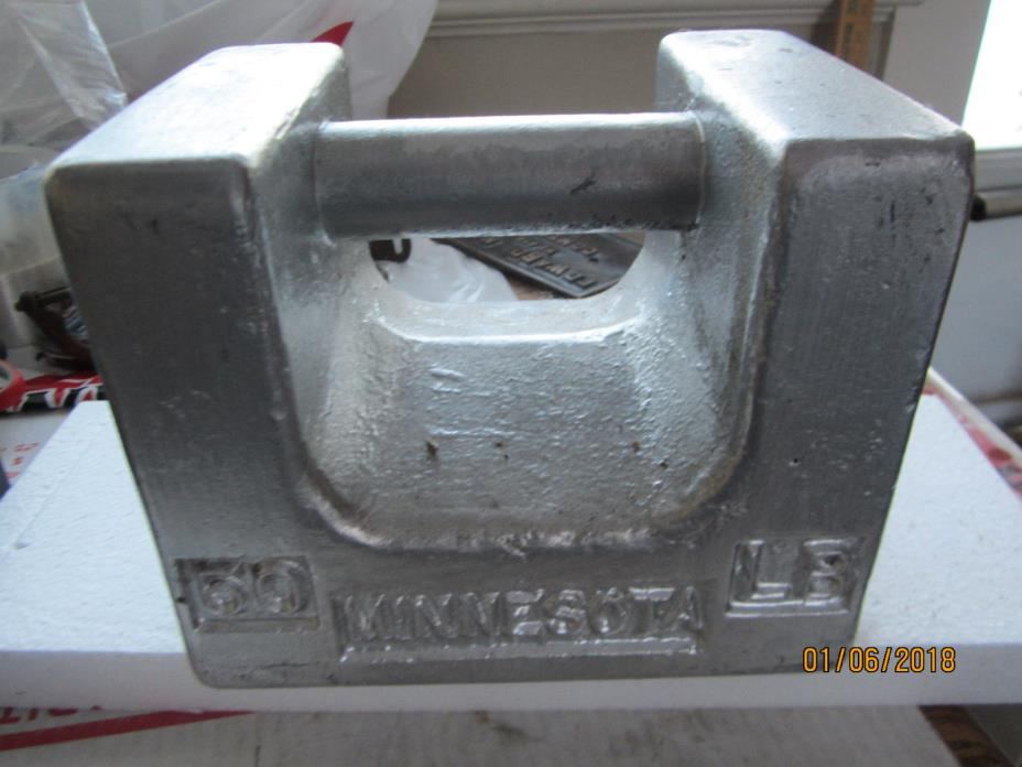 USED  Calibration Weight 50 lb.,Painted , Class F, with copy of certificate