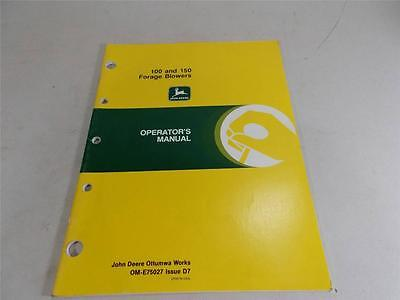 JOHN DEERE OPERATORS MANUAL 100 150 FORAGE BLOWER