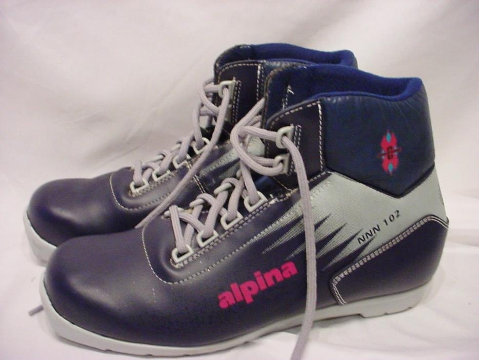 MEN'S ALPINA NNN 102 CROSS COUNTRY SKI BOOTS SIZE 43