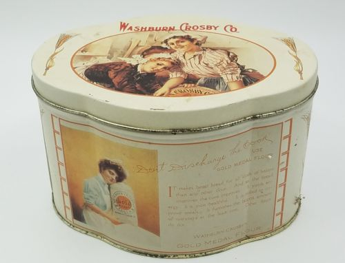 *VINTAGE* GOLD MEDAL FLOUR Washburn Crosby Co. TIN  !!!FREE SHIPPING!!!