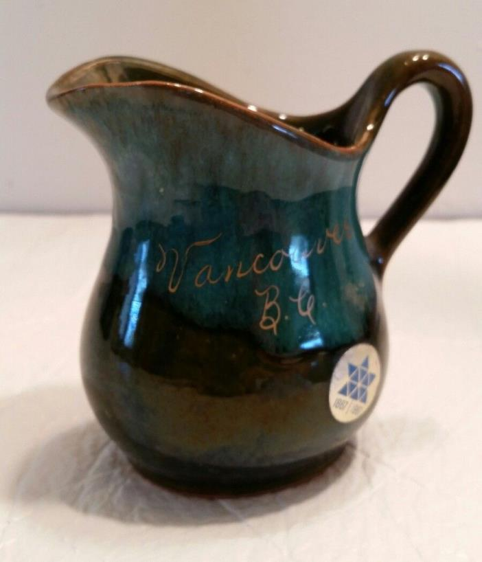 Blue Mountain Pottery Small Pitcher Signed Vancouver BC 1867-1967