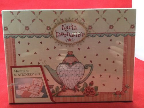 Karla Dornacher Teapot and Floral Design Stationery and Keepsake Box