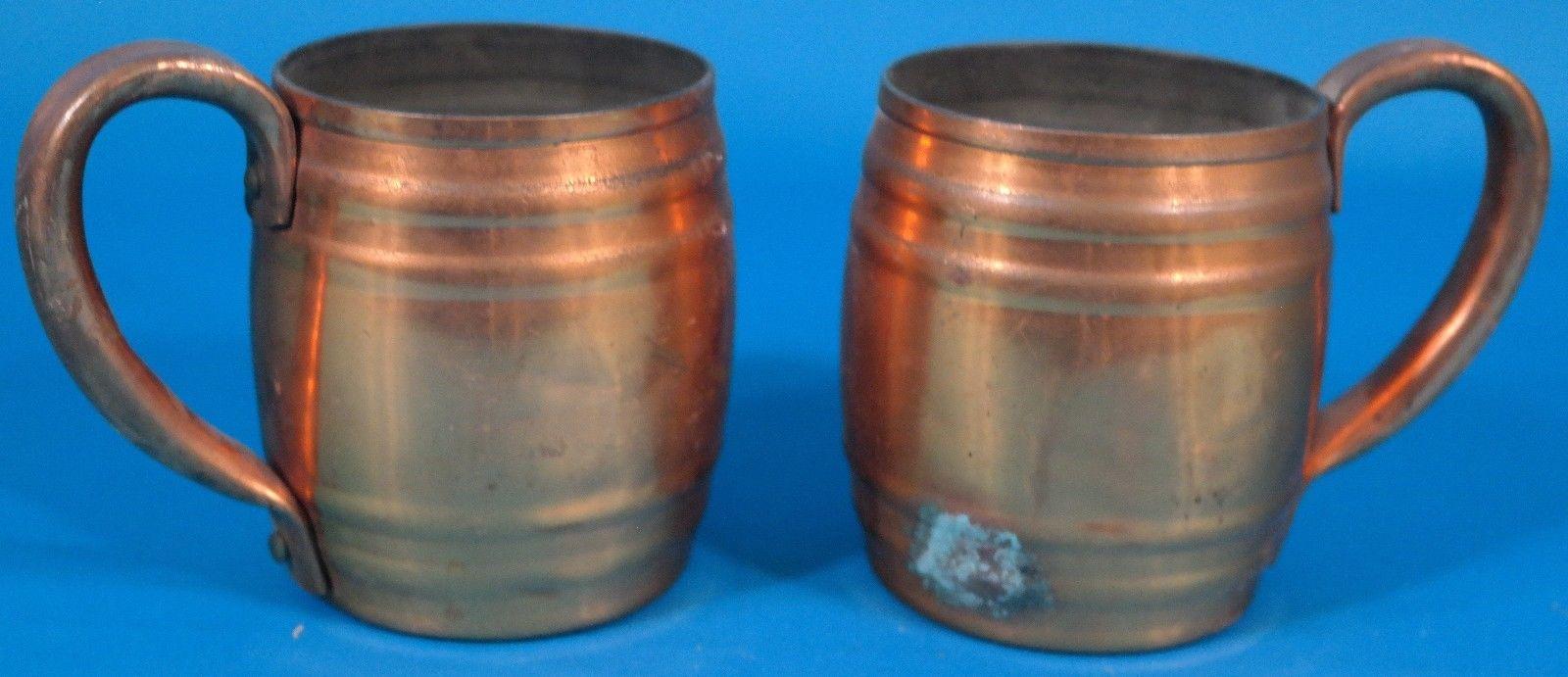 Old Colony Copper Co. Set of 2 Copper Mug