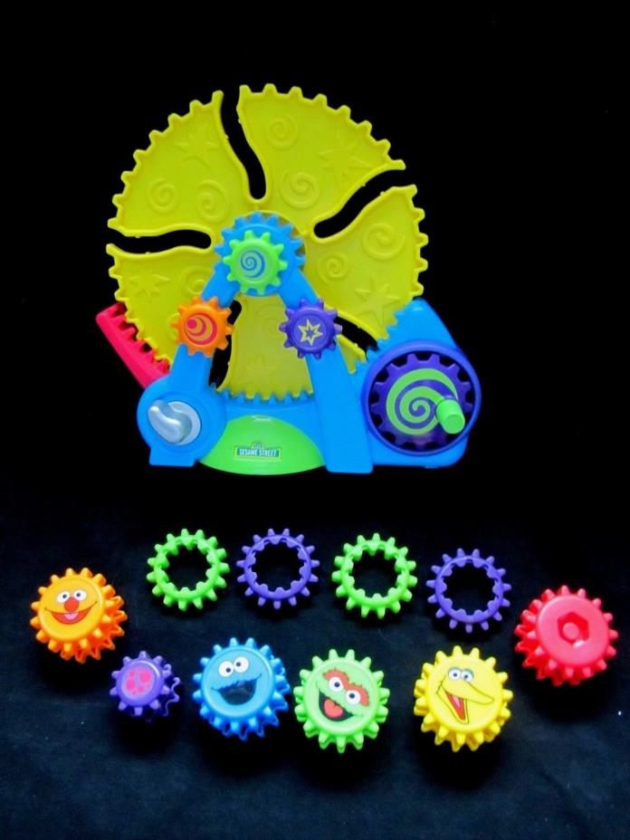 Fisher Price 90443 GEAR GO ROUND Rare Sesame Street Gears Toy Learn Cause Effect